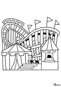 Amusement Park Theme Park Coloring Page Coloring Pages Amusement Park Cartoon Coloring Pages