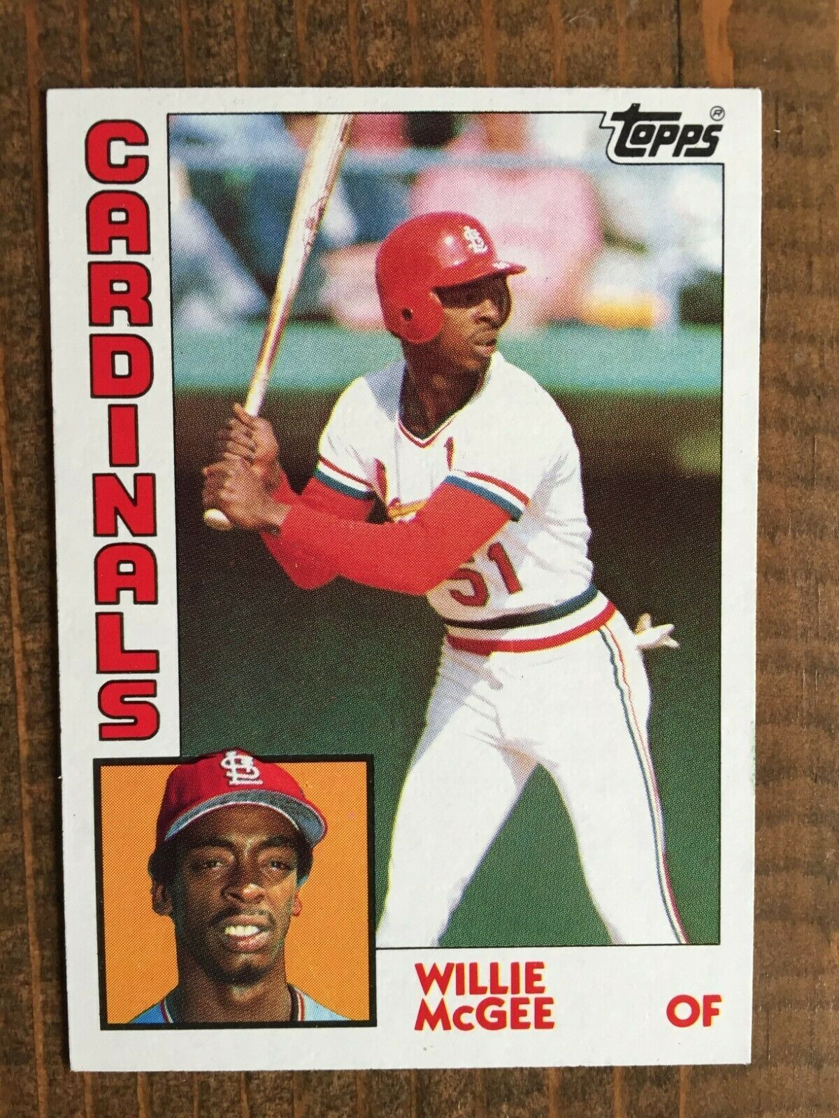1984 Topps Card 310 Willie Mcgee St Louis Cardinals Nm Mt Nice Card Willie Mcgee Baseball Cards Cards