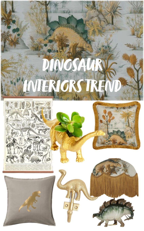 Dinosaur Interiors Trend For Grown Ups Dinosaur Pattern Dinosaur Design Decor