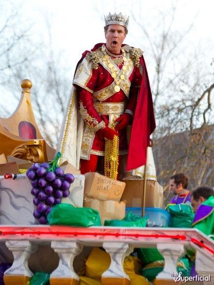 Will Ferrell as King Bacchus