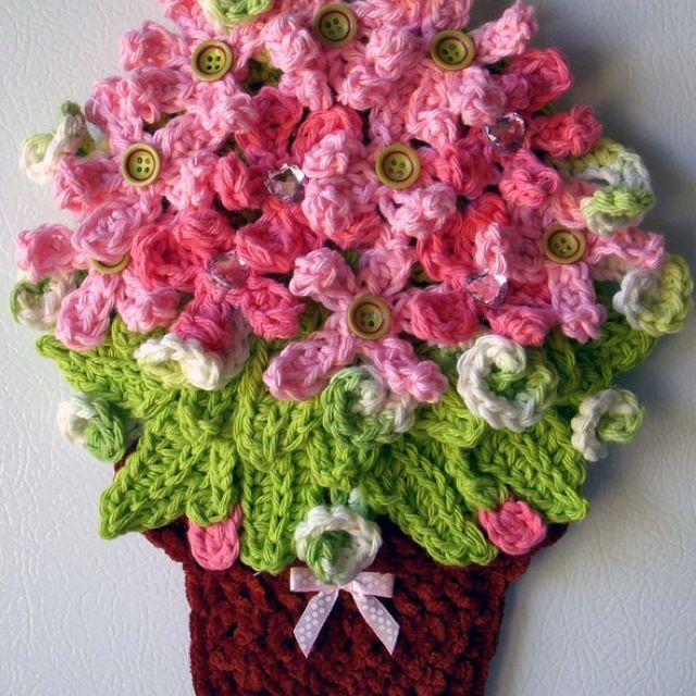 maceta con flores | flores crochet | pinterest | macetas, flores y