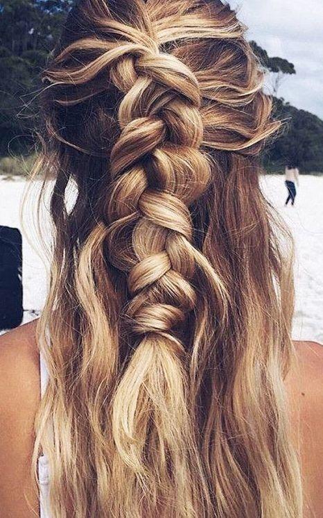 長い髪のための10素晴らしい夏のひも2019 | zopf lange haare, frisuren