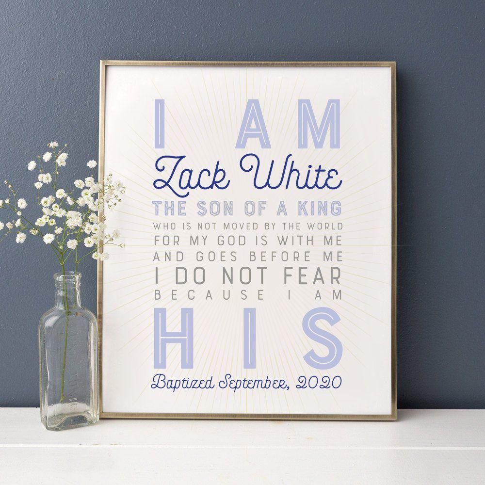 Baptism Gift Boy, Personalized PRINTABLE, Baptism Sign