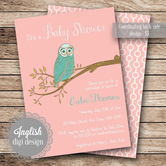 Vintage Owl Baby Shower Invitations: Printable Baby Shower Invitation