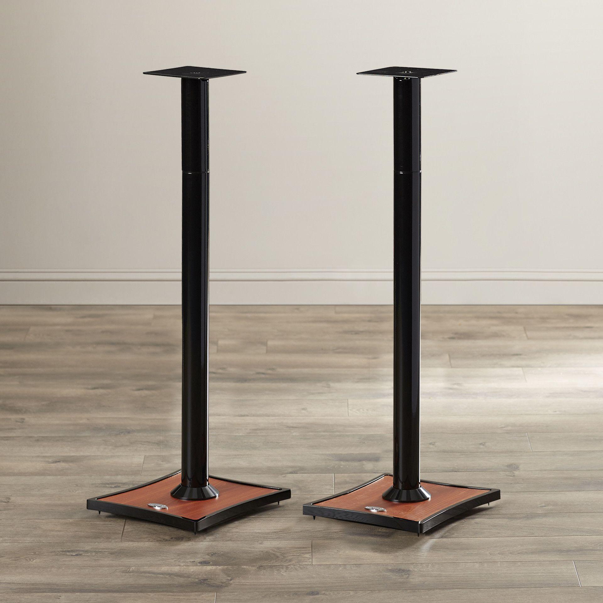omnimount gemini series adjustable bookshelf speaker stand | speaker
