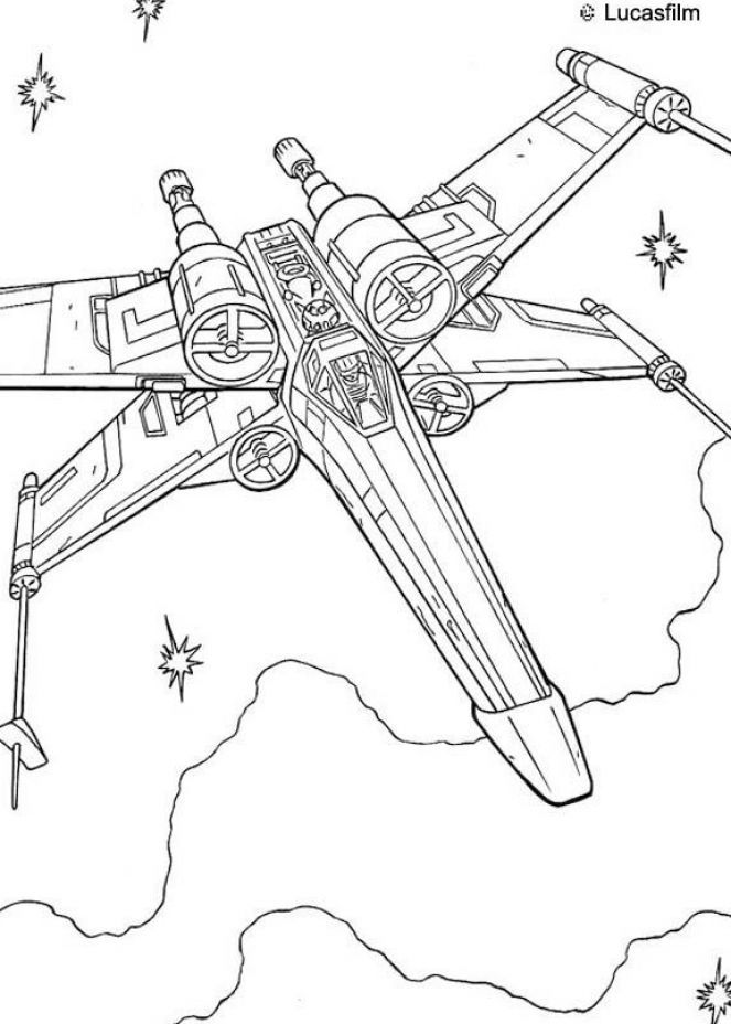 coloring picture luke skywalker speeder | Star wars coloring pages ...