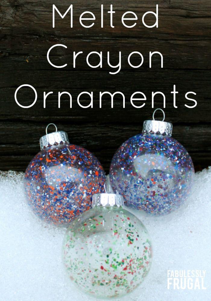diy melted crayon ornaments pinterest diy decoration fun diy