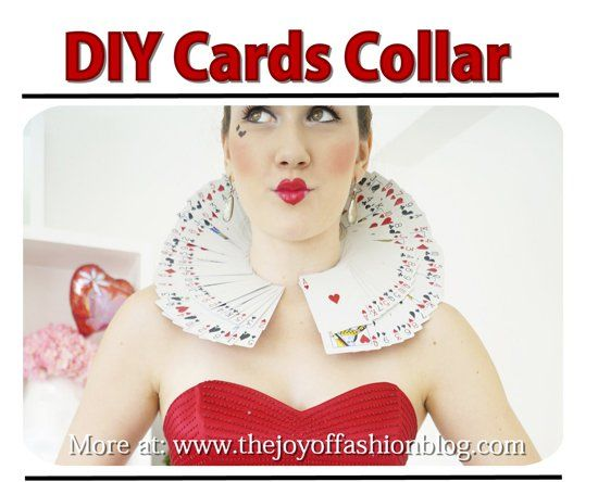 Making A Card Collar For A Queen Of Hearts Costume Queen Of Hearts Costume Heart Costume Queen Of Hearts Card