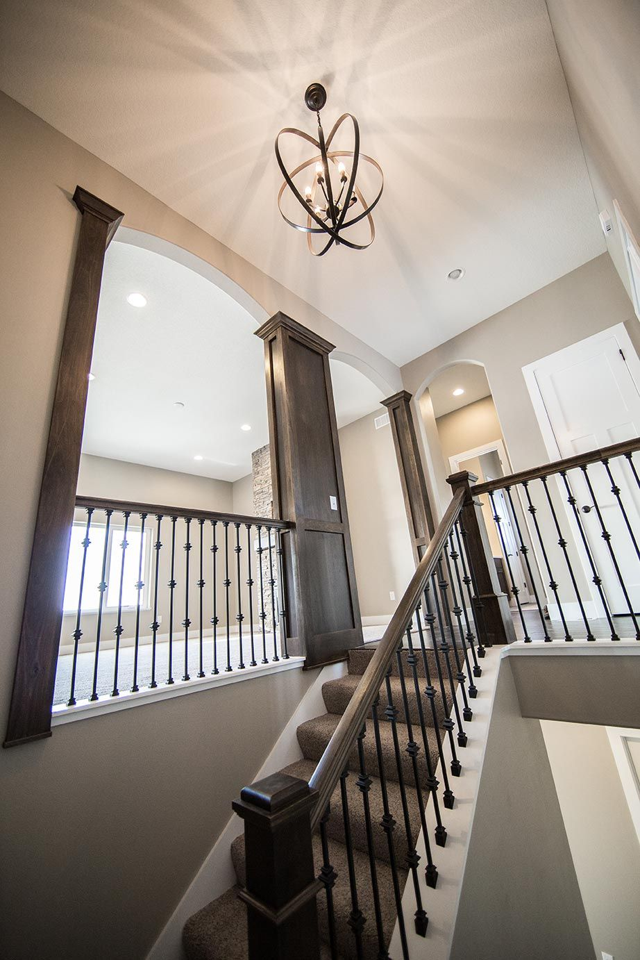 Best Custom Foyer With Oil Rubbed Bronze Spindles Custom 640 x 480