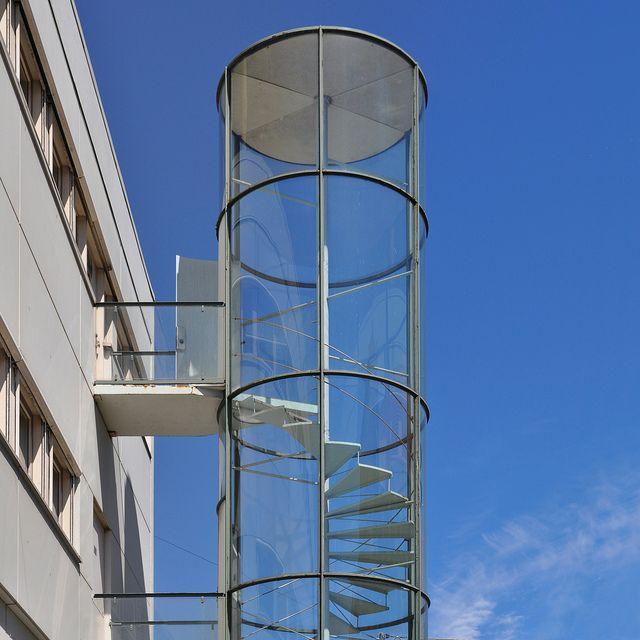 Best Arne Jacobsen Fire Escape Stairs Novo Copenhagen 1954 400 x 300