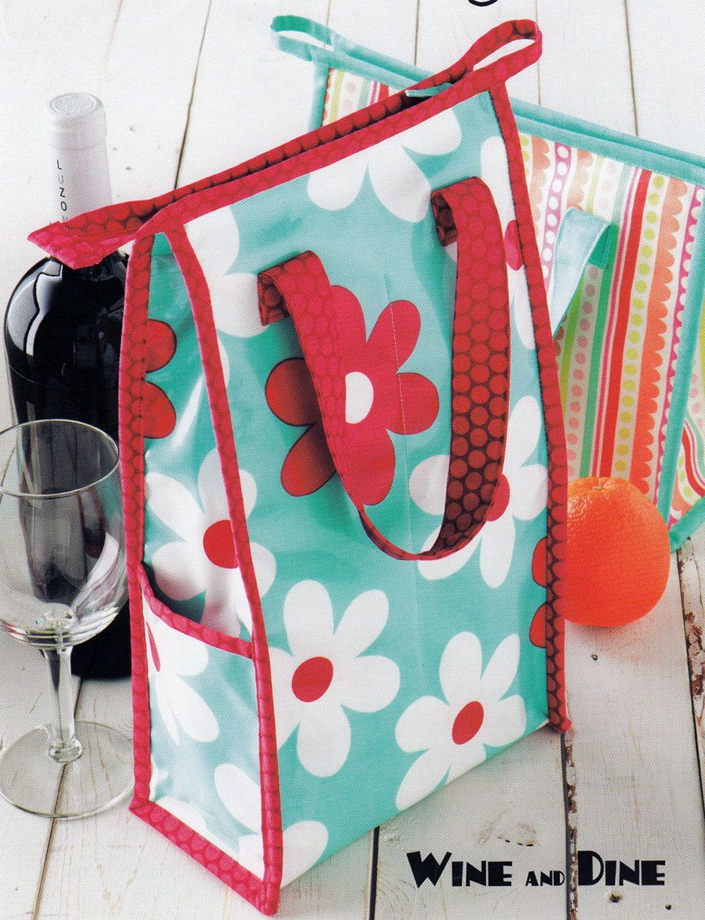Wine And Dine Sewing Pattern From Atkinson Designs Wine Bag Pattern Sewing Projects For Beginners Wine Purse