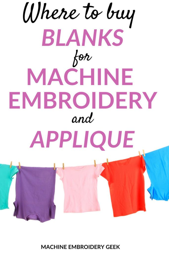 Where to buy blanks for machine embroidery and appliqué ...