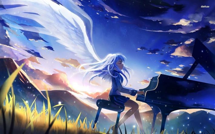 Download Wallpapers Kanade Tachibana Angel Manga Angel Beats Tachibana Kanade Besthqwallpapers Com Angel Beats Anime Angel Beats Anime Wallpaper