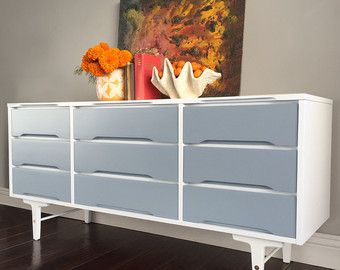 Image Result For Mid Century Modern Painted Hutch
