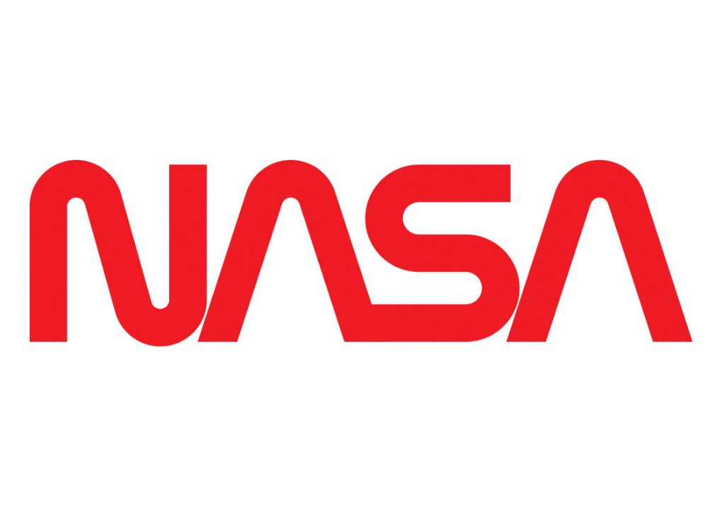 NASA Red Worm Logo Embroidered Mens TShirt in 2020 Mens