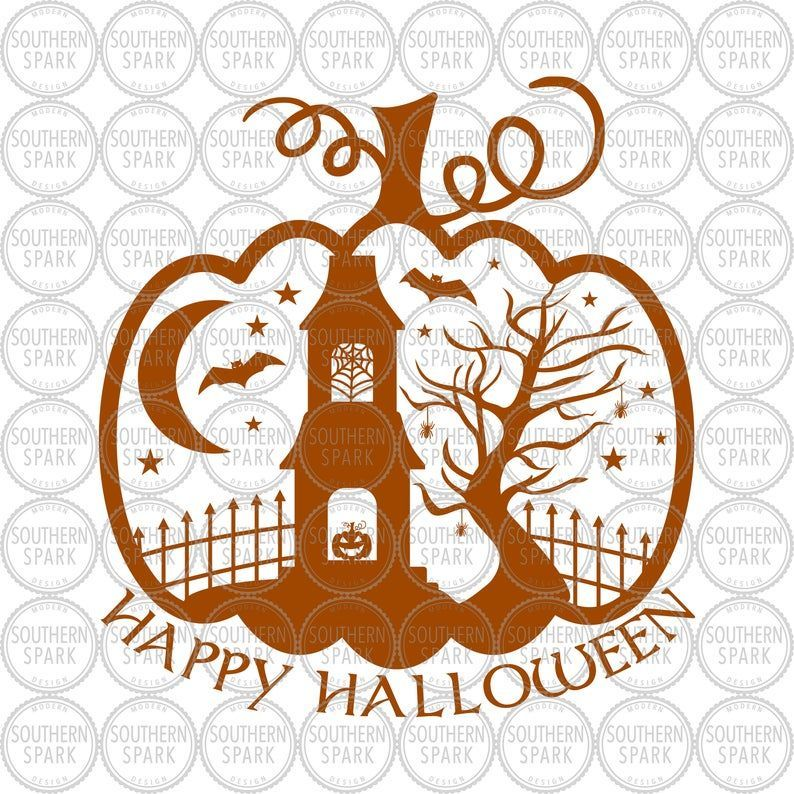 Halloween Pumpkin Happy Halloween Svg Png Eps Pdf Jpg Dxf Etsy In 2020 Small Business Gifts Halloween Pumpkins Dxf