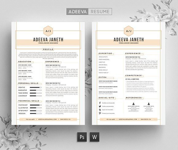 4 Page Resume Portfolio Cover Letter by Business Flyers on - portfolio cover letter