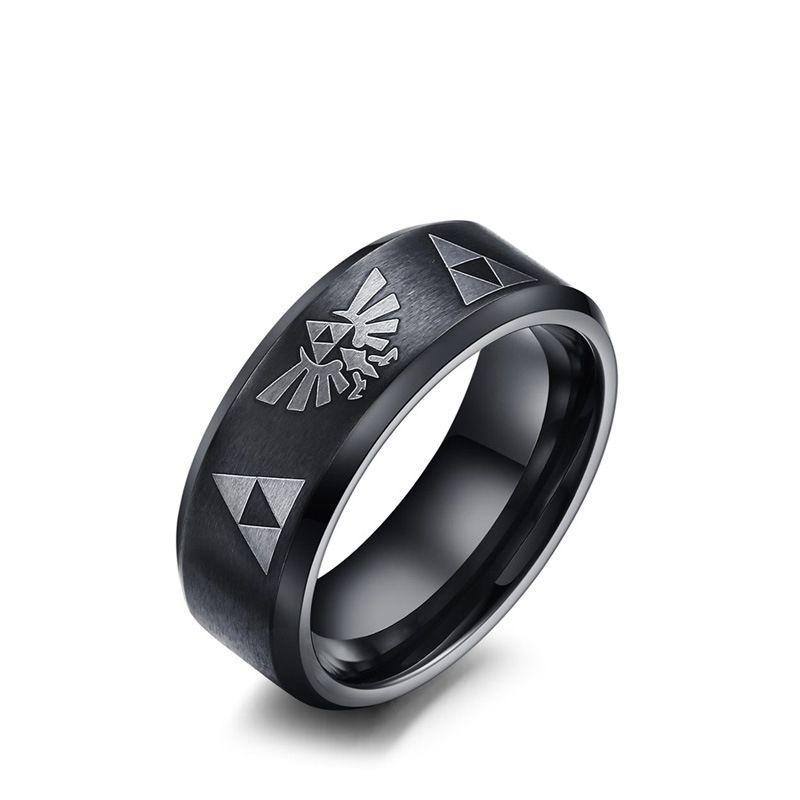L@@K Triforce Steel Grey Satin  Neck Tie Legend of Zelda