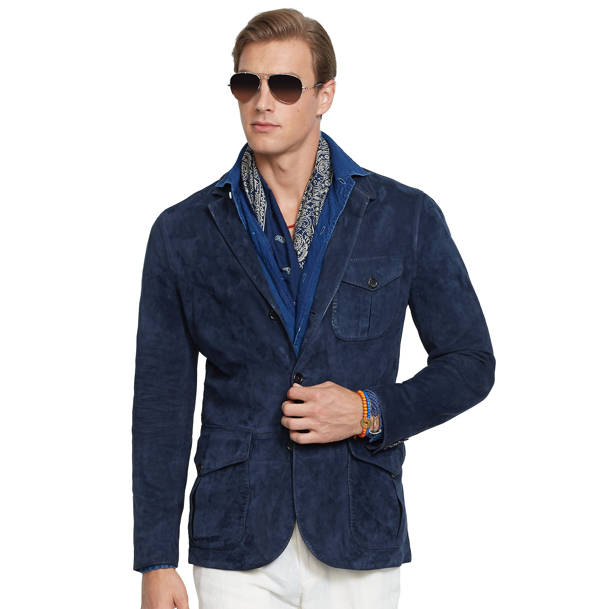 polo-ralph-lauren-blue-suede-utility-sport-coat-product-1-25193945 ...