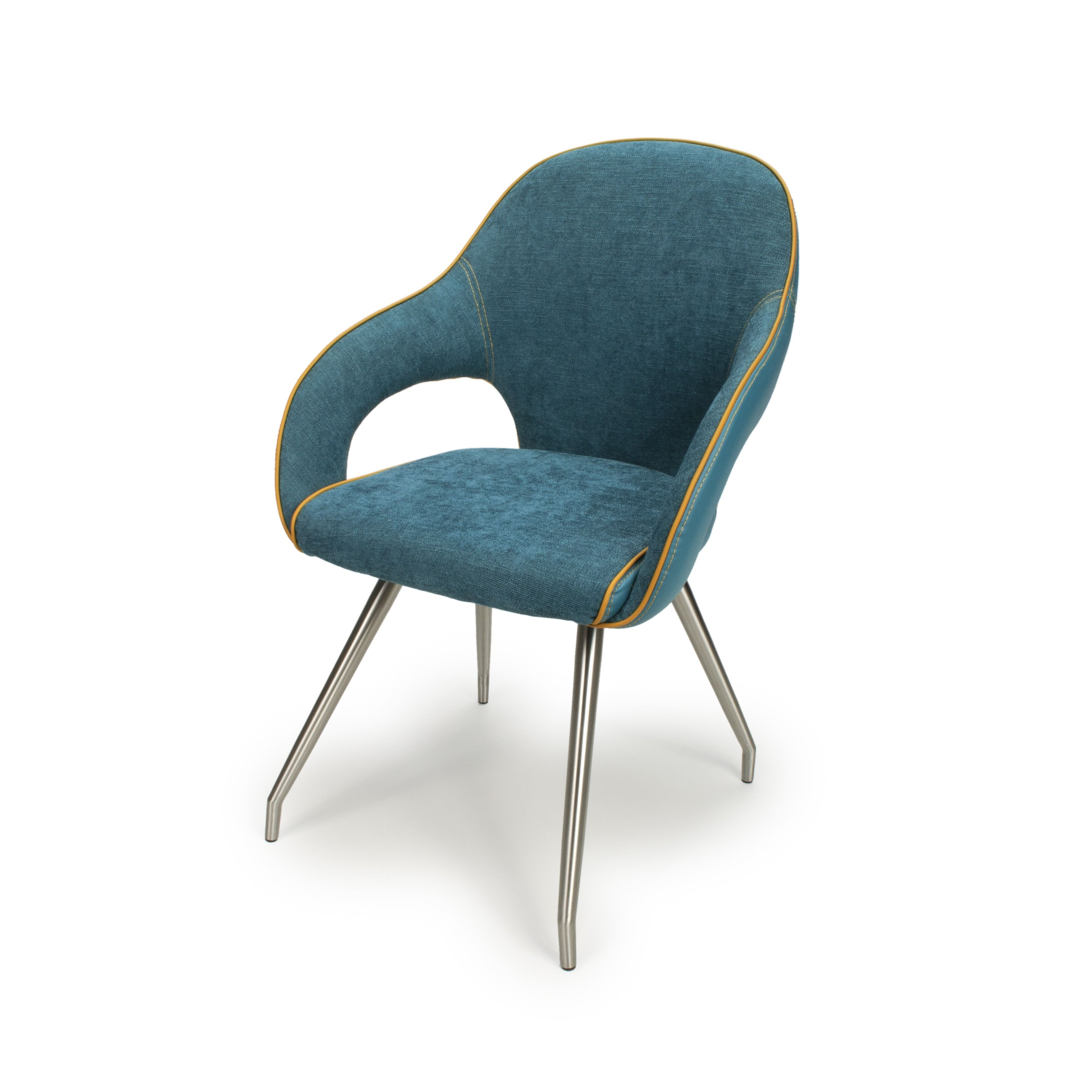 Fabric And Leather Dining Chair