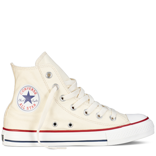 converse high top blanche