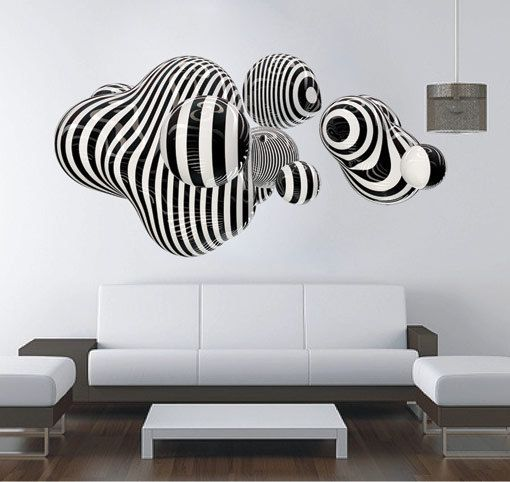 3D Shape wall art for housewares in vinyl by decalSticker on Etsy, $98.80