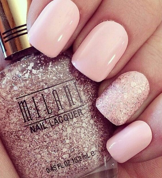 Winter Nails Elegant Ideas Cute Pink Nails Pale Pink Nails Pink Nail Art Designs