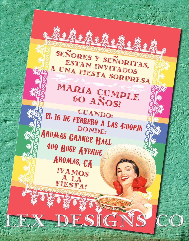 Diy Digital Cinco De Mayo Fiesta Invitation 15 00 Via