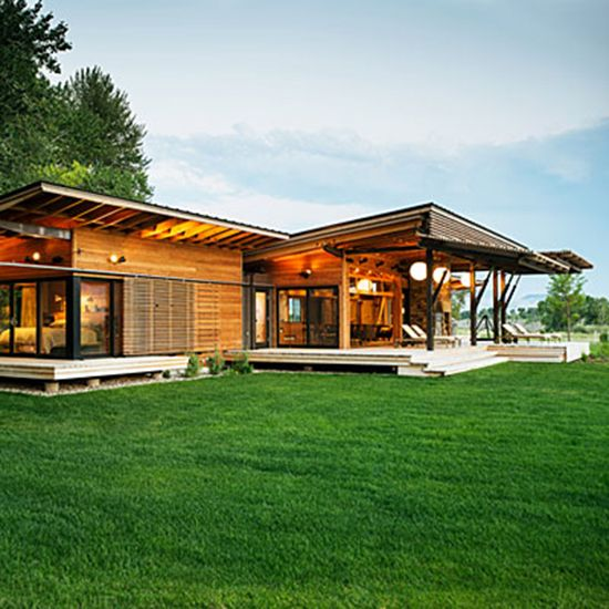 Fabulous Country Homes Exterior Design Home 1cg Large: Modern Pre-fab Ranch Style House In Ruby Valley, Montana