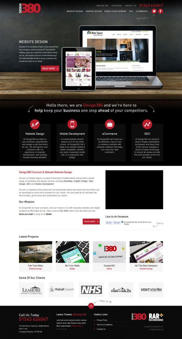 Design 380 Cannock Website Design Walsall Stafford Webdesign Inspiration Www Niceoneilike Com Web Design Inspiration Website Design Web Design