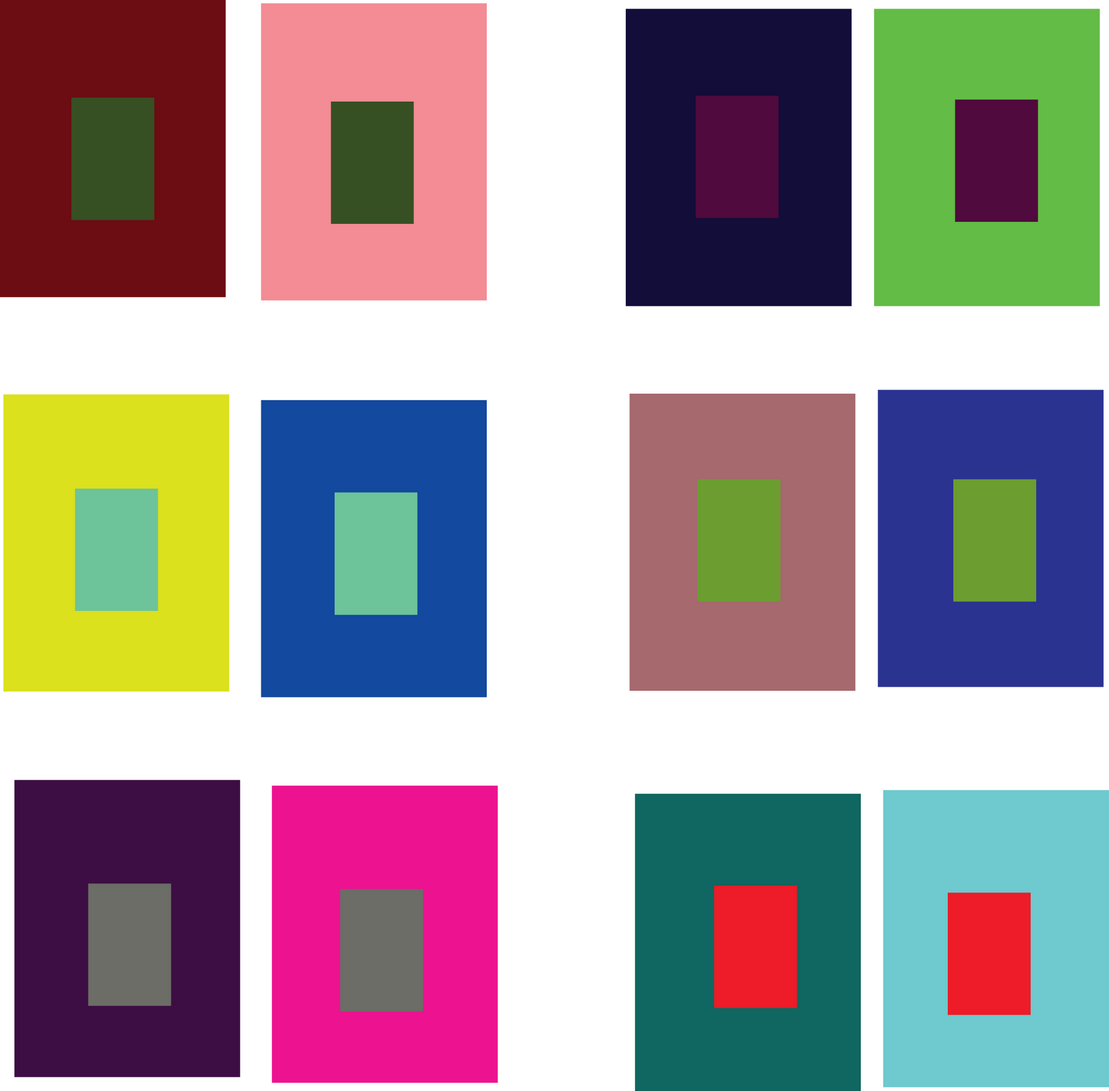 simultaneous contrast - Google Search | color theory ...