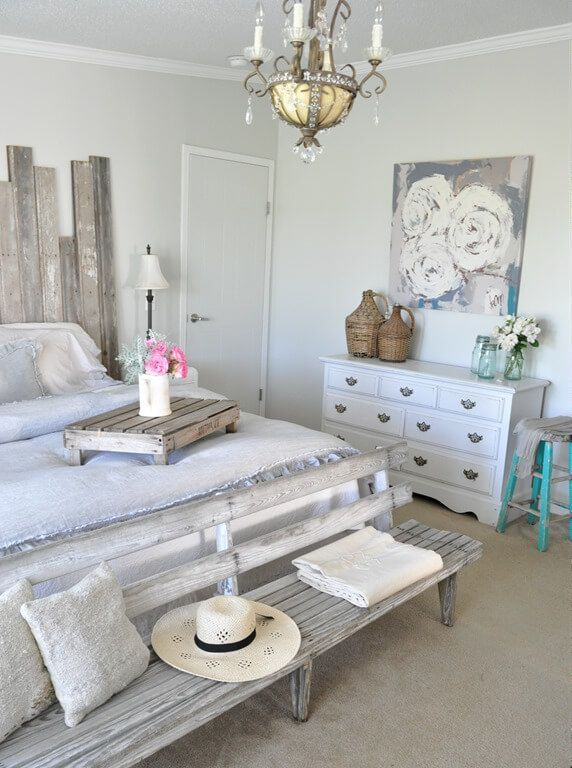 Shabby Chic Beach House Retreat Bedroom