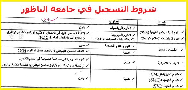 شروط التسجيل في المسالك في جامعة محمد الاول الناظور 2020 Education Boarding Pass Airline