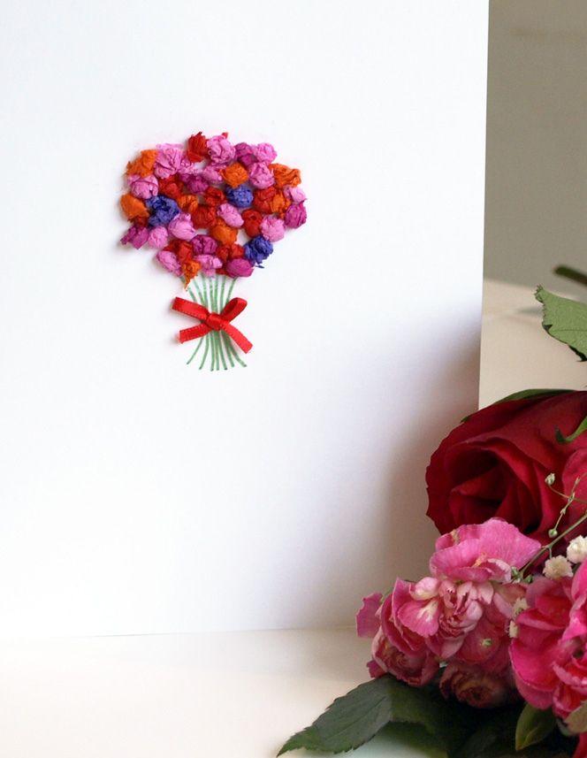 Posy Valentine Card Valentines Art