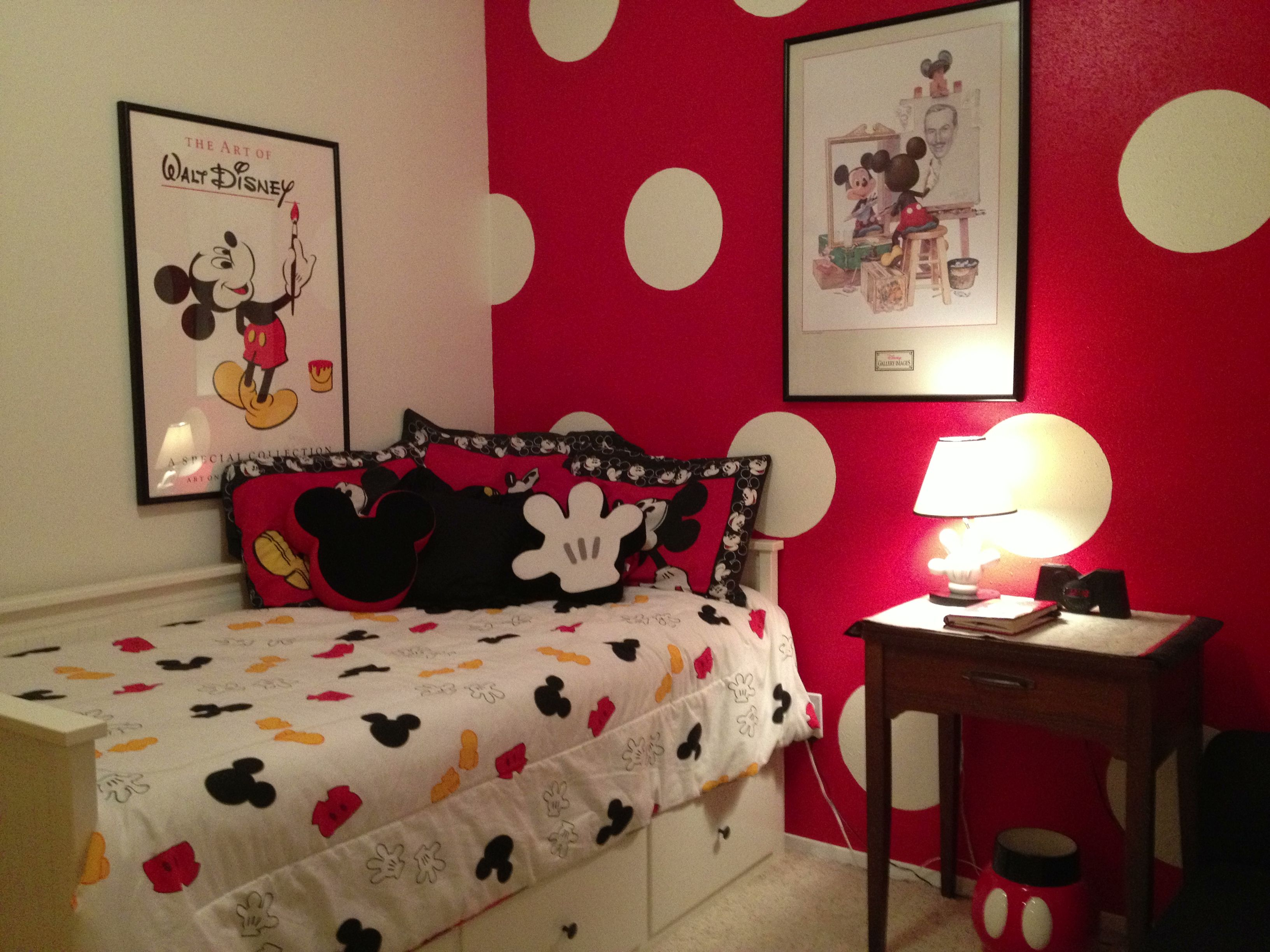 Mickey Mouse Guest Room  The Mouse House  Disney bedrooms Mickey mouse bathroom Mickey mouse