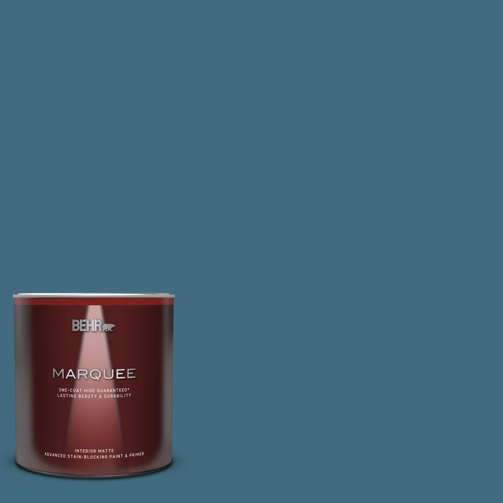 Behr Marquee 1 Qt 550f 6 Regatta Bay Matte Interior Paint And Primer In One 145304 In 2020 Behr Exterior Paint Interior Paint