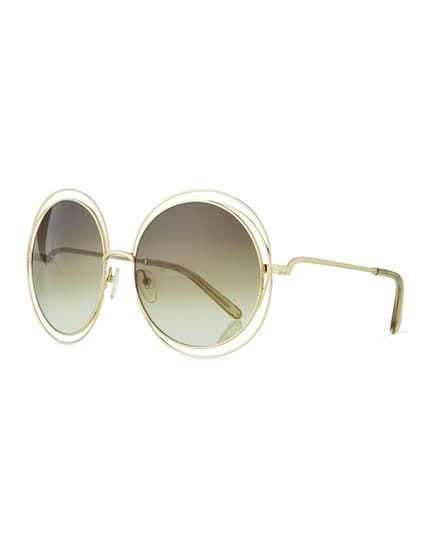 7f43898a7ca Carlina Metal Oversize Sunglasses by Chloé  346