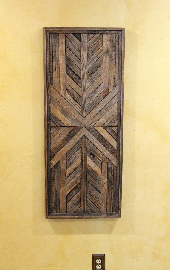 This is a one of a kind Reclaimed Wood Wall Decor piece! --PRODUCT ...