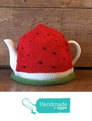Watermelon Knitted Tea Cozy Handmade Tea Cosy for 4-6 cup Teapot from Farm Fresh Knits http://www.amazon.com/dp/B016C76K62/ref=hnd_sw_r_pi_dp_MMFuxb0H6FY4S #handmadeatamazon