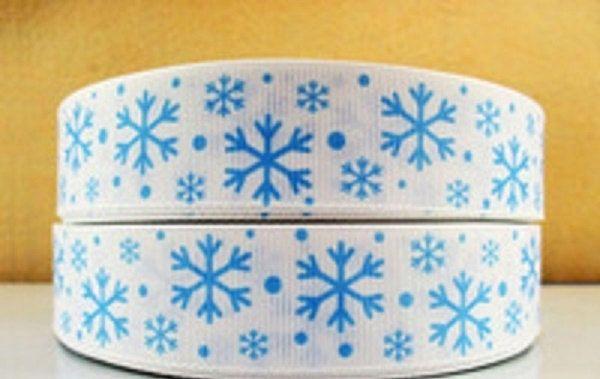 5 yards snowflake ribbon by Hopeshandmadeshop on Etsy