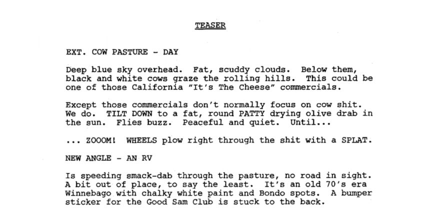Breaking Bad TV Script Sample Tv scripts, Script, Script