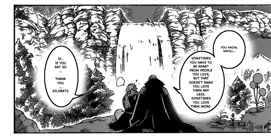 "FAIRY TAIL CHAPTER 417 "" Natsu Dragneel and Gildarts Clive talking"