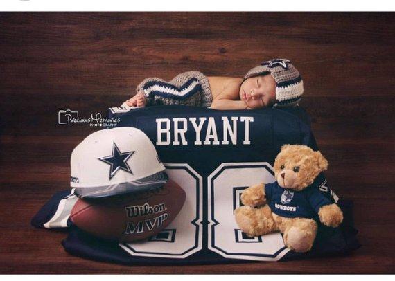3aab7b39 Crochet Newborn Dallas Cowboys Pants and Helmet Photography Prop ...