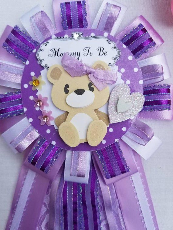 Mommy To Be Corsage Teddy Bear Baby Shower Gift Mom To Be