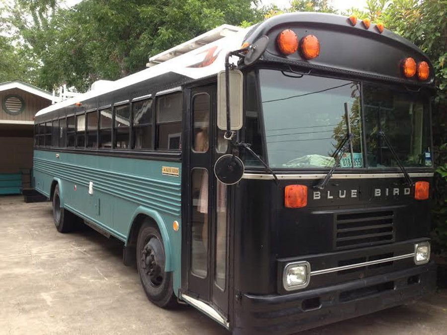 A 1991 bluebird bus converted into a home on wheels