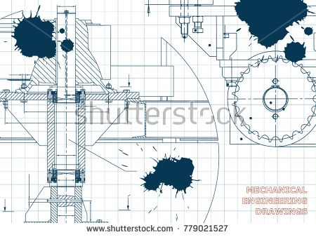 Blueprints mechanical engineering drawings cover banner blueprints mechanical engineering drawings cover banner technical design draft ink blots bubushonok art bubushonokart design vector malvernweather Images