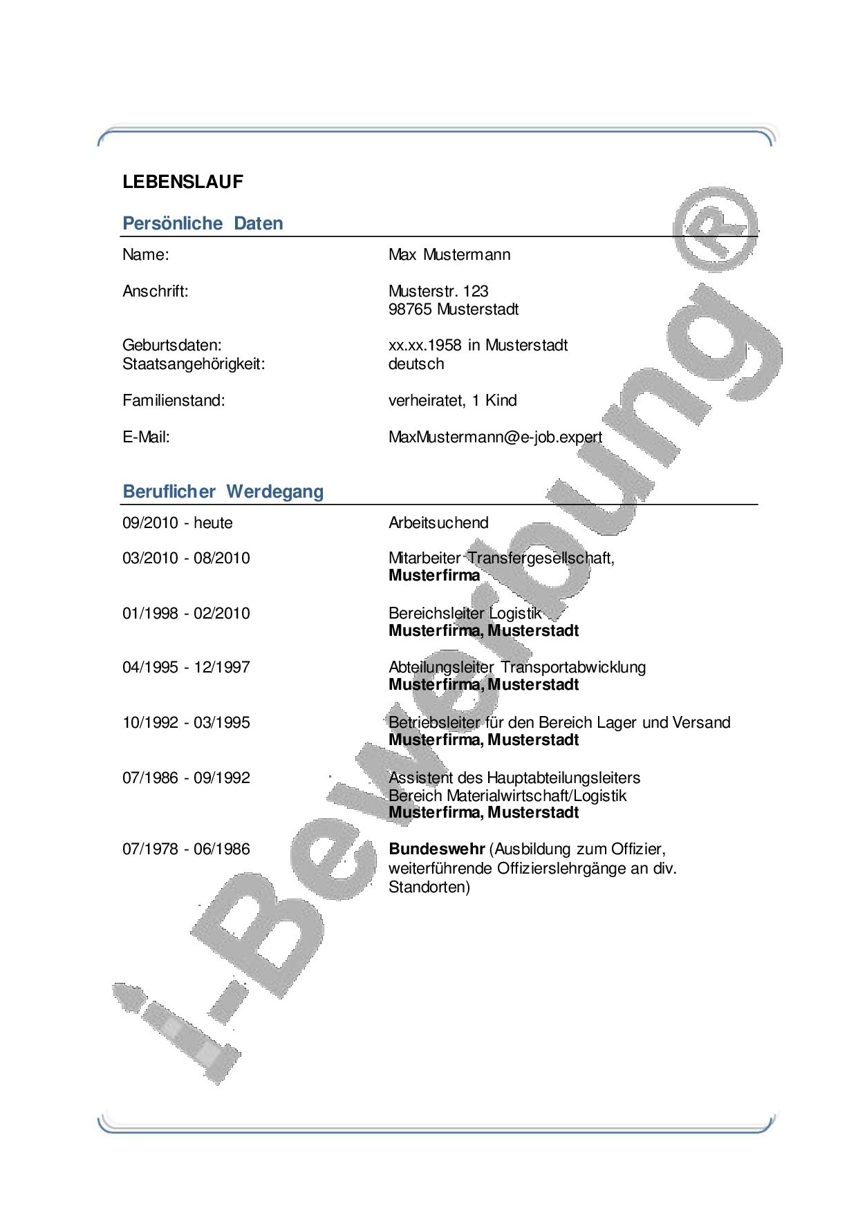 Fein Verschiedene Lebenslaufformate Pdf Ideen - Entry Level Resume ...