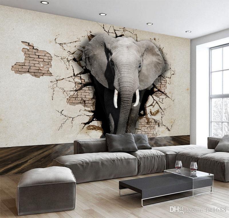 Grosshandel 3d Kundengebundene Tapete Elefant Wandbild Tv Wand Hintergrund Poster Wohnzimmer Schlafzimmer Tv Hintergrund Wandbild Tapete Fur Wandtattoo Von Fst16 Tapeten Tv Wand Hintergrund Schlafzimmer Tv