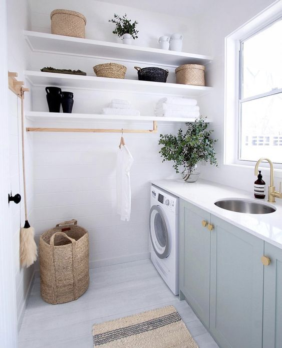 A Roundup Of Laundry Rooms So Gorgeous You Ll Actually Want To Do Laundry Dlghtd Laundry Room Design Laundry Room Storage Laundry Room Organization