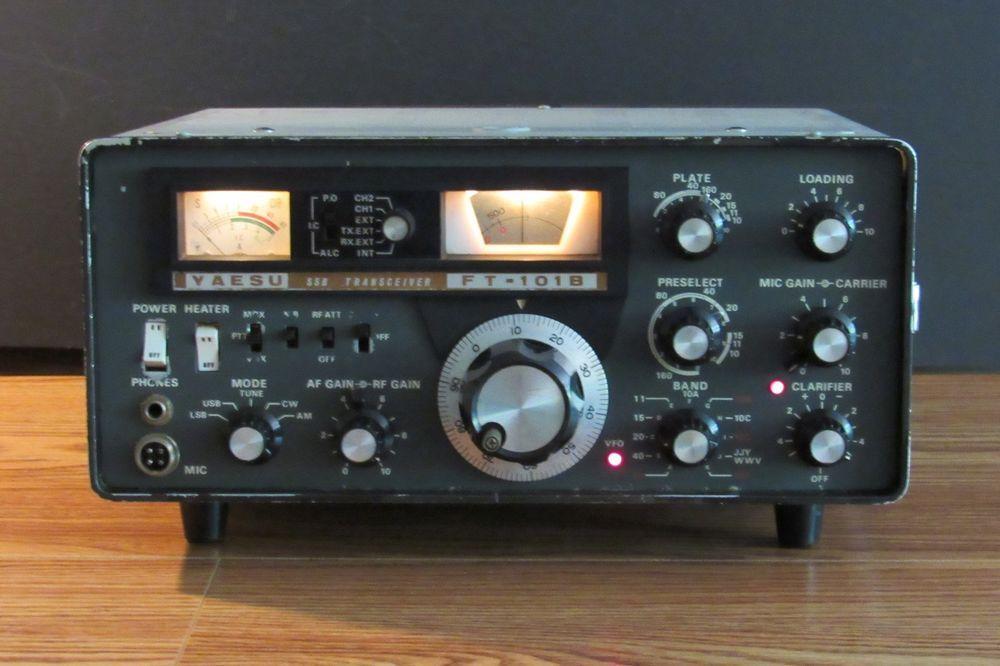 Yaesu Model Ft 101b Ham Radio Transceiver Ham Radio Radio Ham Radio Antenna